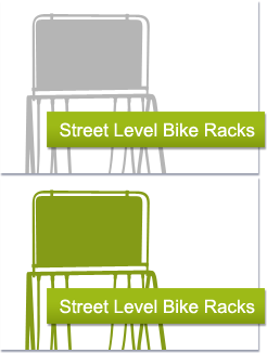 Street Level Bike Racks